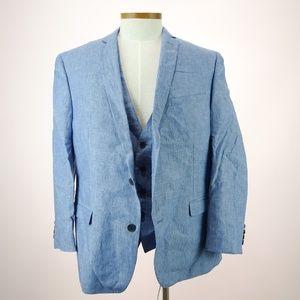 Bar III Men's Fit Vest Two Button Suit 46R NWOT